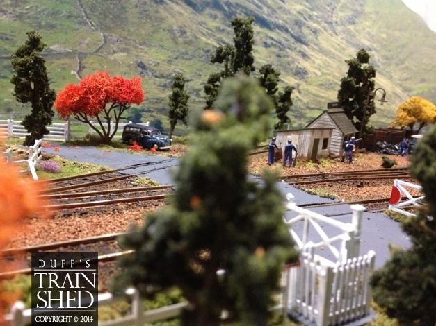 Autumn in Hollow Grove - train yard