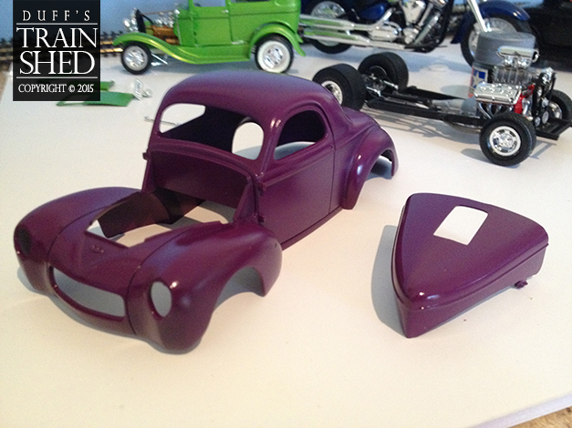 41 Willys Street Rod purple coat