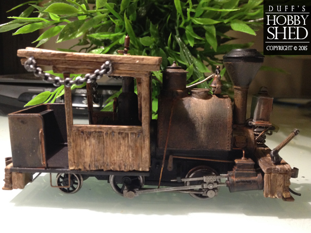 Right side shot. Loco is on its way to rustic.