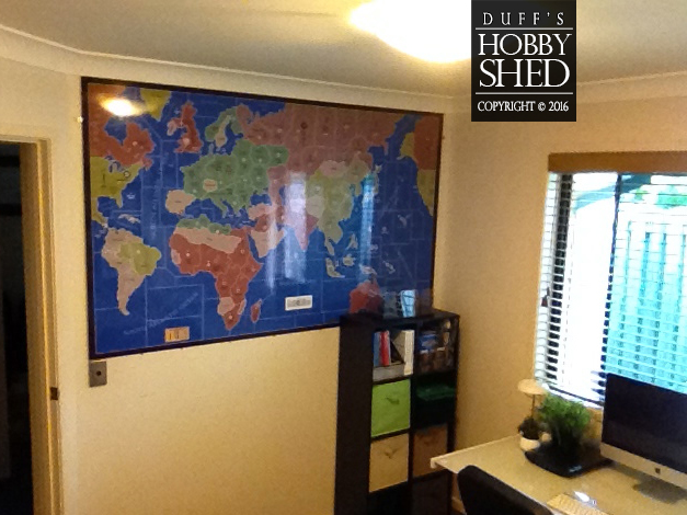 Giant board on study wall