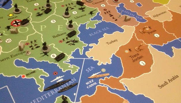 Giant Axis & Allies board close up